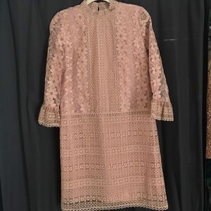 Anna Sui baby pink mod mini dress sz 6